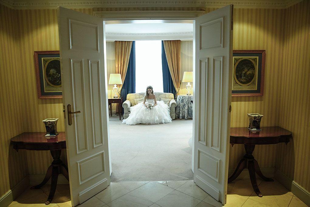 novia en hotel palace