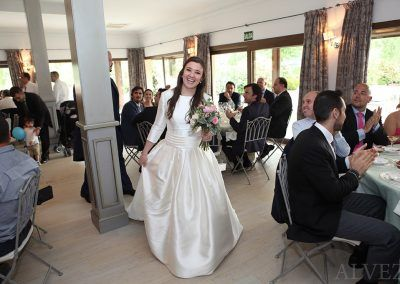 novia en banquete