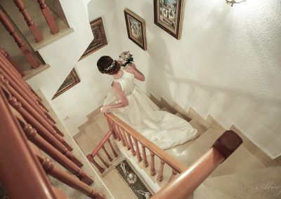 bajando la escalera