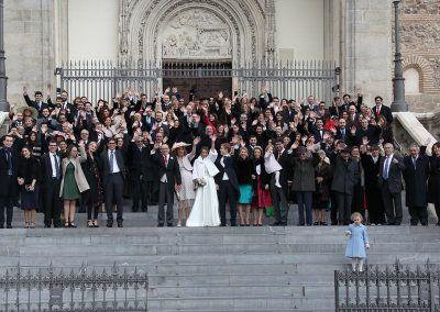 boda entera en la escalera de los jerónimos