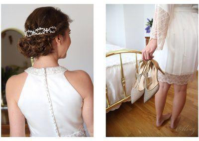 fotografías de detalles de la novia