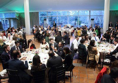 invitados en el banquete