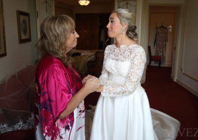 novia y su madre
