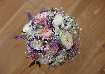 fotografía del ramo de la novia