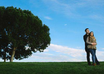 Carlos y Gema en el parque