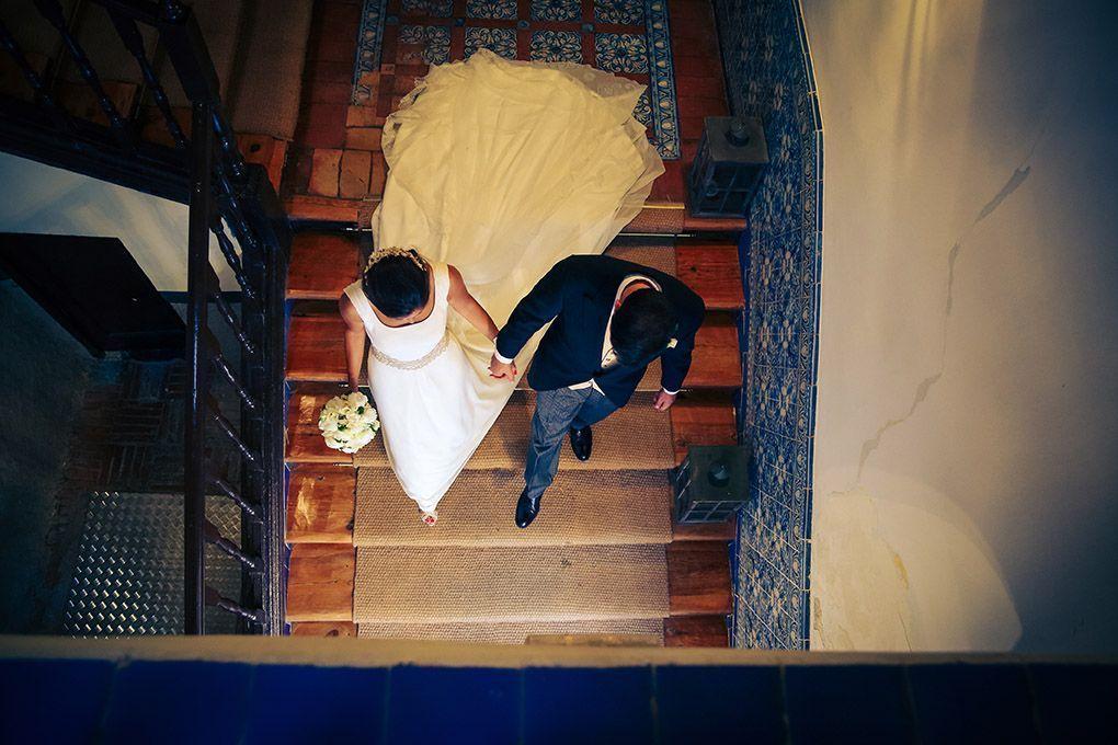 foto de novios en boda