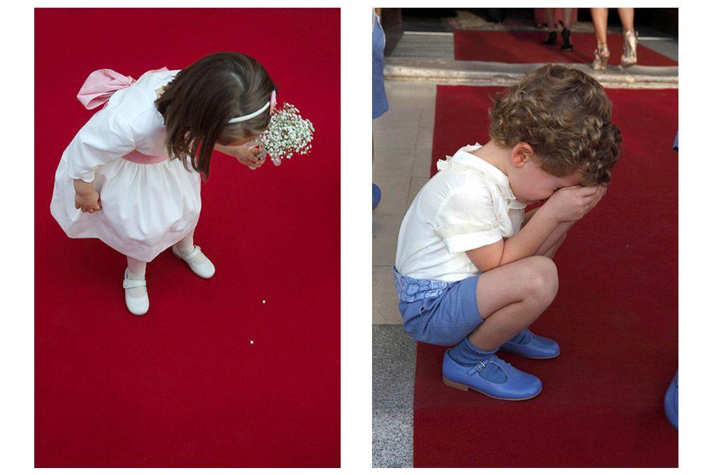 niños en la alfombra