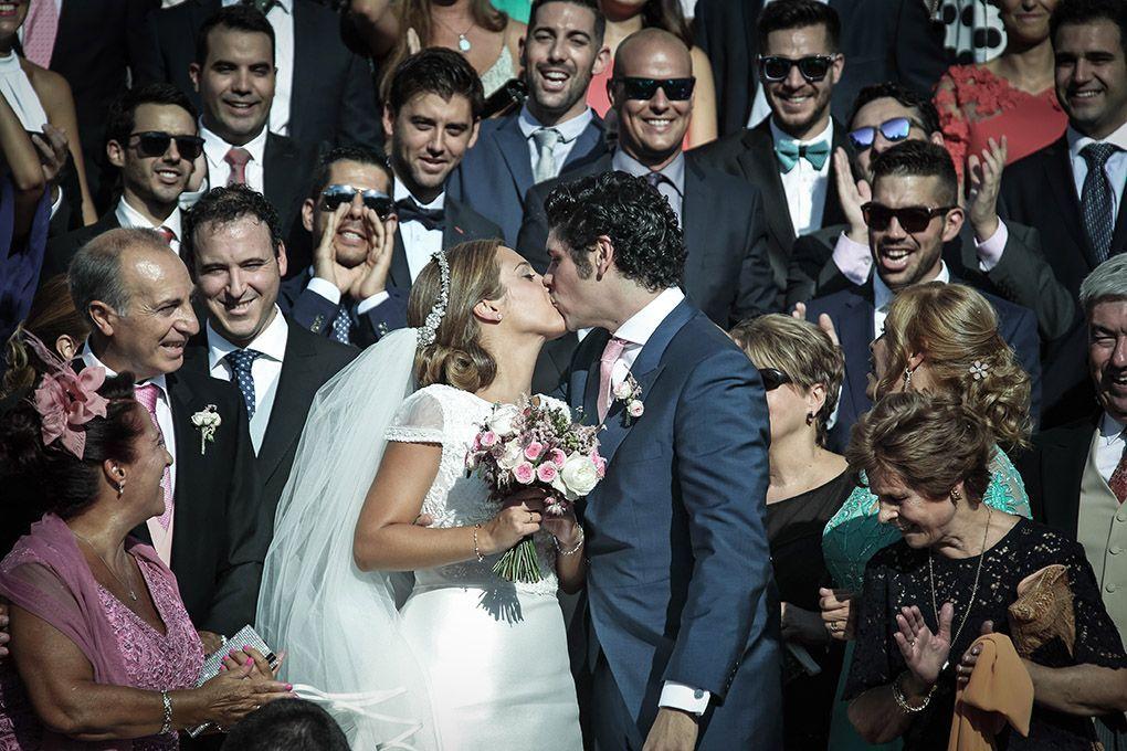 novios en boda madrid