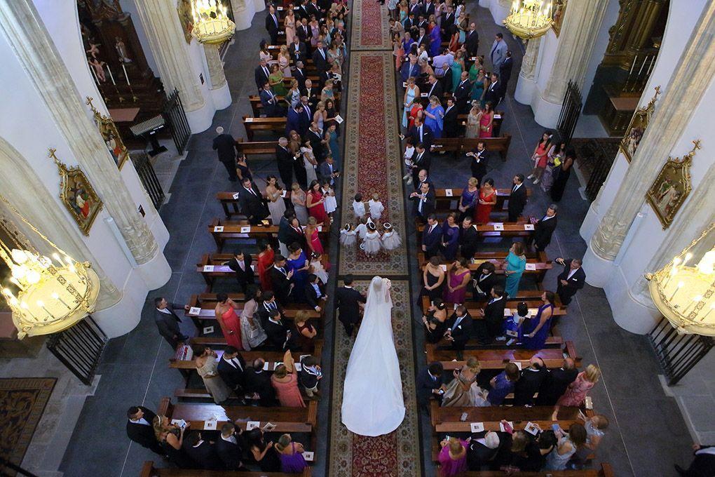 pasillo de los jerónimos en boda
