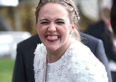 cariñoso saludo de la novia
