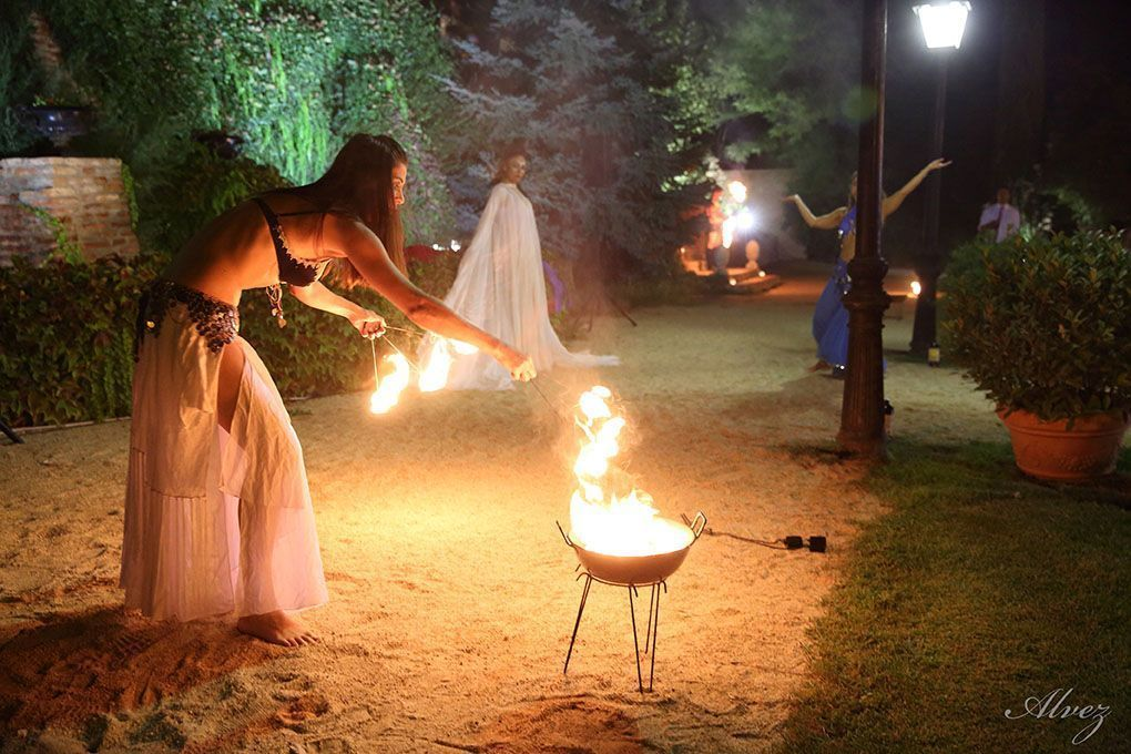 fotografia fuego boda