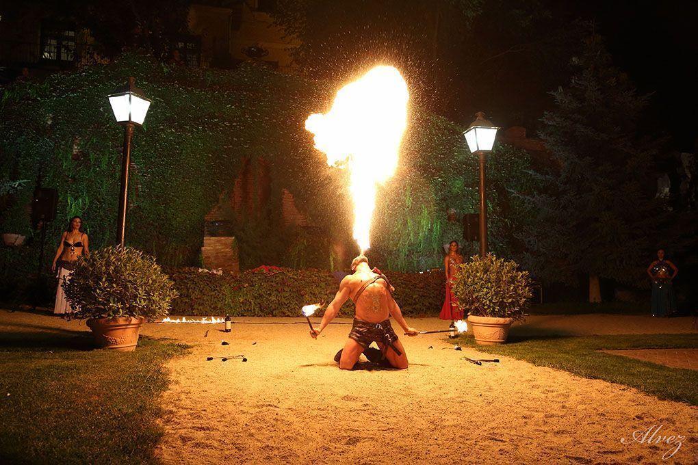 fuego en boda