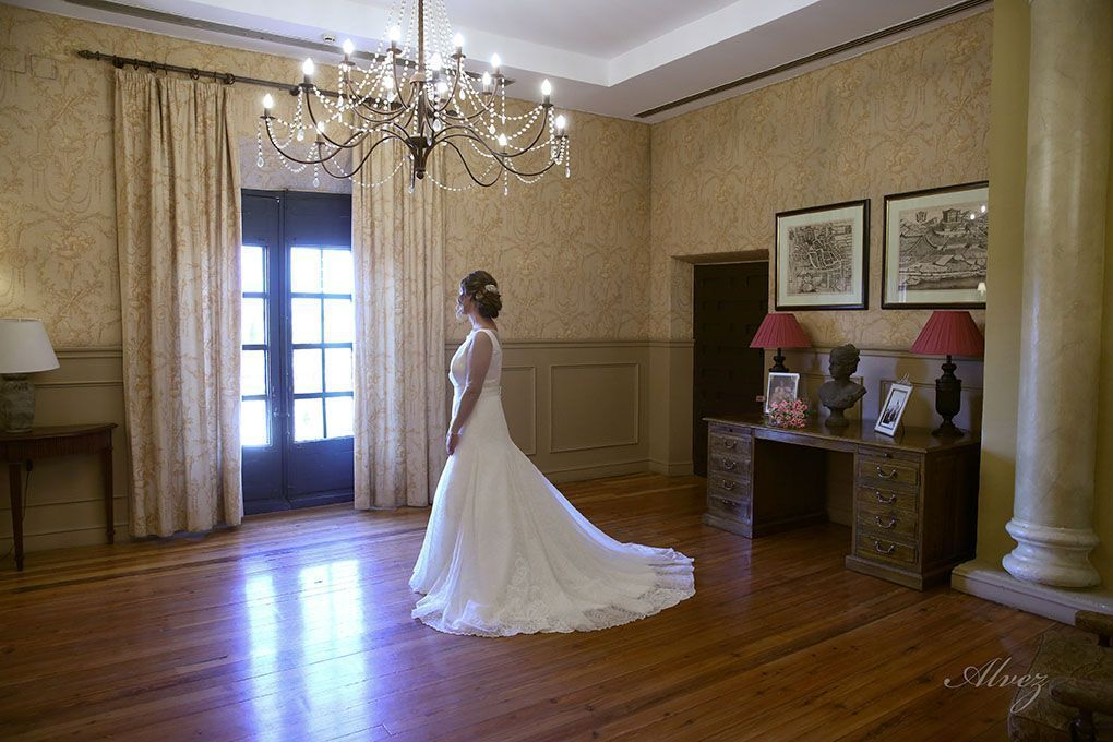 novia en el salón