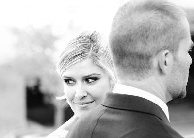 mirada de la novia