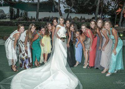 novia con amigas en madrid