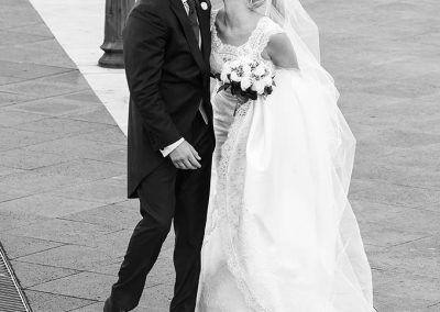 paseo de los novios en boda Madrid