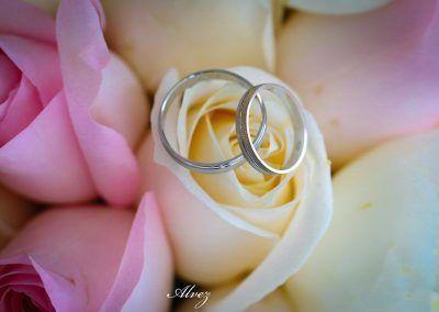 anillos en el ramo