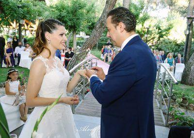anillos en la boda del mirador