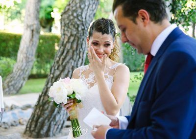novia llora por emoción