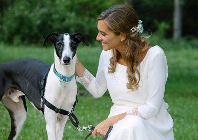 novia y su perro
