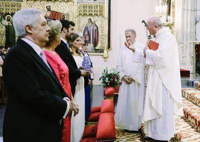 Momento en el altar.
