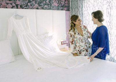 Clara y su madre.