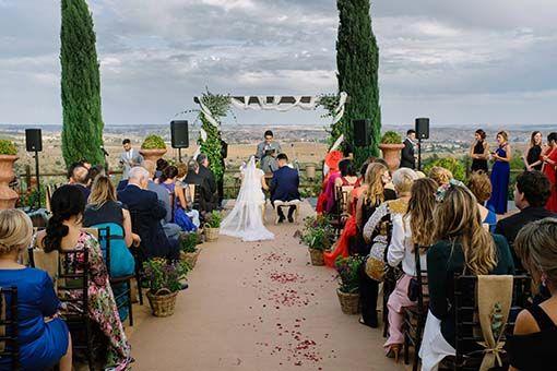 Vista de boda civil