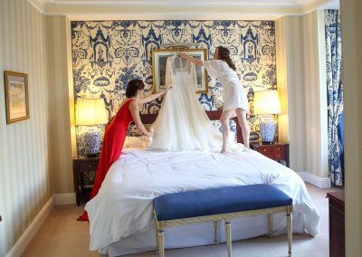 Bajando vestido boda Madrid
